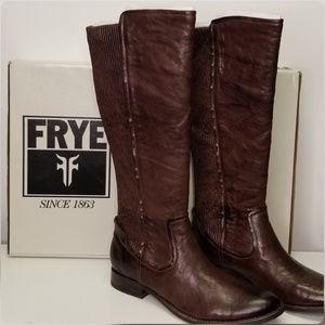 FRYE Women's Melissa Scrunch Dark Brown Boots 7.5